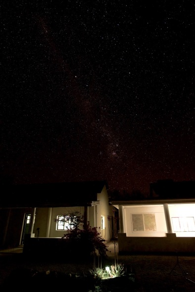 Stargazing outside our room, the Milky Way was spectacular