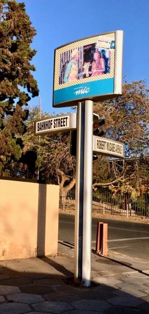 Mix of German-African street names
